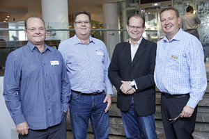 James Wilkinson, Nic Huisman(W Architects), Riaan van Wyk(Woolworths), Gavin Jones(Growthpoint)