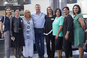 Renee English, Melvina Walters, Gavin Jones, Roslynn Children, Lucinda Steyn, Lamesa Modak, Mazel Matthews (Growthpoint Properties),