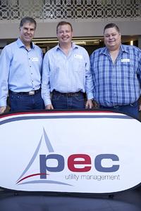 Petrus van Heerden (Kamstrup), Gavin Jones (Growthpoint Properties), Frikkie Nel (PEC Utility Management)
