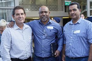 Arnold van Zyl (JHI Retail), Mac Daniels (V & A Waterfront), Craig Lakey (JHI Retail)