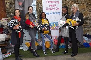 Denise King, Lauren Boehner, Lovegail Rakgotho, Sanelisiwemize, Dee Boehner  (Kidz to Kidz team)