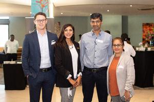 Matthew Ellish (Kritzinger Ellish Attorneys), Ronica Inarman (Ballito Junction), Omar Khan (Broll)& Ayesha Sewbaran (Excellerate JHI)