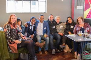 Tania Botha, Angela Rex, Shirley Seku, (RNS) Jean Hector, Kenneth Tharrati (Nedbank) Marietjie van Deventer, Vanessa Robinson, Marjike Arran(RNS)