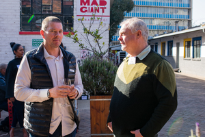 (Peter Lindstrom (Primedia Outdoor) Otto Hecht (Shoprite Checkers)