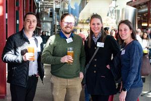 Danie Hefer, Jonathan Bales (Builders Warehouse) Vanessa v d Merwe, Nathalie Lange (ICS)