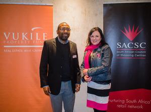 Thulani Makhubu (Vukile Property Fund)Louise Olivier (Excellerate JHI)