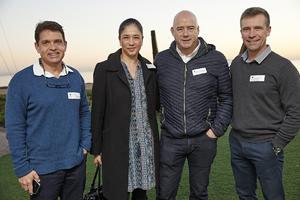 Craig Coetzee(Spar), Michelle Britton(Redefine), Ross Bannatyne(Spar), David Falck (Growthpoint)