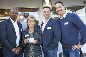 Sivene Lolwana, Desrae Pentz(Woolworths), Gary Pienaar(Food Lovers market), Brett Exner(Woolworths)