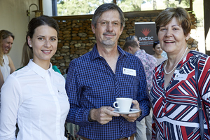 Lia Theron (CBRE), Stefan Roodt (Growthpoint), Ina Lopion