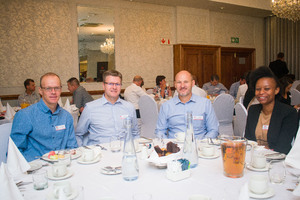 Rupert Pohl (Sasol Pension Fund) Gerhard de Leeuw, Nico Roos, Akopo Africa (Del Quantity Surveyors)