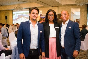 Matthew  Counsell (Broll)  Sharon Makhanya (FNB Commercial Property Finance) Stanton Alberts (Realworx Property Valuations)