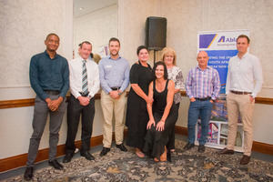 Abland Team with John Loos (FNB Commercial Property Finance) Laetitia Zillen (Redefine)