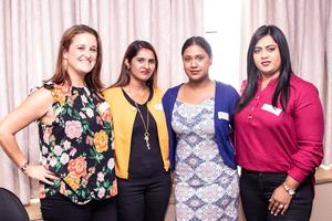 Jade Skinner (Boxer Superstores), Kereshnee Acharee, Kerisha Govender (Mustard Seed Marketing), Naseera Mahomed