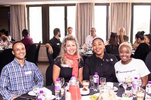 Dean Young (Ecolibrium), Hermien Wright, Kgaogelo Nkoagatse (McDonalds SA, Zanele Mdoka (Boxer Superstores)