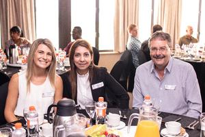Caitlyn De Beer (Keal Property Management Services), Diksha Dhupelia, Diederik Koekemoer (Bidvest Prestige)