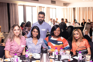 Lisa Folkard, Nicole Gounden, Julie-Ann Zuma (The Pavilion Shopping Centre), Nazeera Khan (Sorbet). Back: Avesh Udiajoo (The Pavilion Shopping Centre)