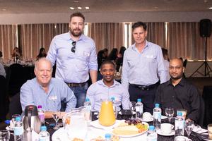Bottom: Tony Whitfield (MCA Architects), Mpumelele Cele, Rishal Ravjee. Top Left: Wade Fountain (MCA Architects), Ian Furter (Mbatha Walters & Simpson)