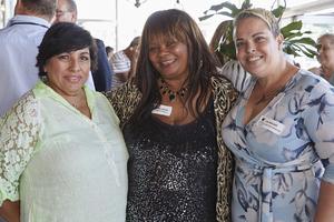 Brenda Bibby(Excellerate JHI), Zulpha Morris(Heaven Shelter House), Lee-Ann Bell(Excellerate Brand Management)