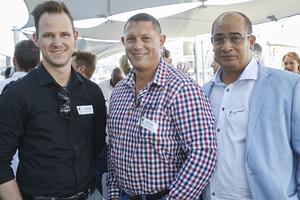 Justin McCarthy(Fairvest Property Holdings), Johan Hefer(Excellerate JHI), Wayne Maggott(JHI Retail)