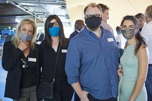 Paula van Melsen(Coral Asset Managers), Andreana Holmes, Jonathan Duguid, Maxine Teixeira(The Blue Room)
