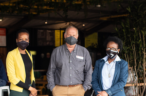 Zama Mahlabo(The Pavilion Shopping Centre), Tony Whitfield(MCA Architects) & Zama Ntombela(The Pavilion Shopping Centre)