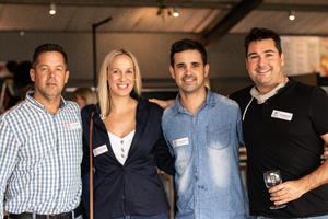 David Cobbold(Famous Brands), Roxann Bacon(Broll), Travis Hamilton(RB Properties) & Lee Rasmussen(MK IlluminationSA)