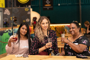 Claudia Moodley, Lisa Folkard(The Pavilion Shopping Centre) & Vanessa James(BOO Media)