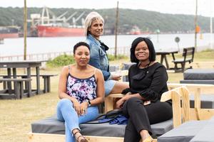 Nisha Premraj, Brenda Silela & Julie Ann Zuma(The Pavilon Shopping Centre)