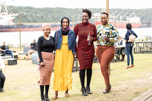 Noluthando Cele, Adeela Haffejee, Sphume Khuzwayo(Broll) & Ayanda Madondo(Mainstream Property Group)