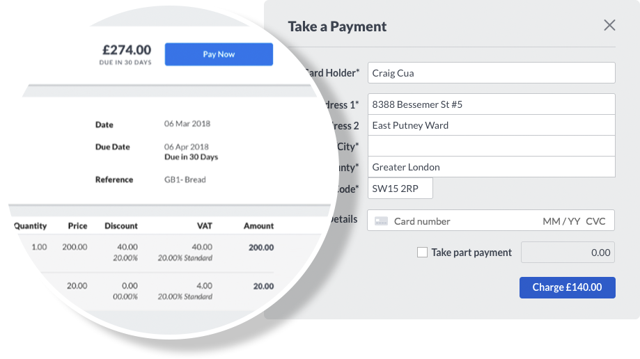 Invoice Payments Sage Business Cloud - Speed invoice