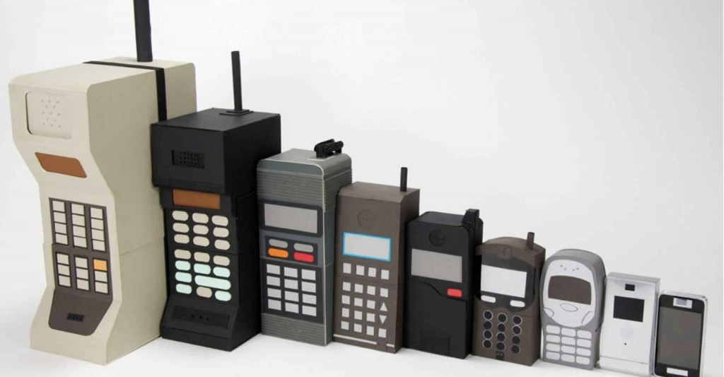 Mobile phones throughout the decades