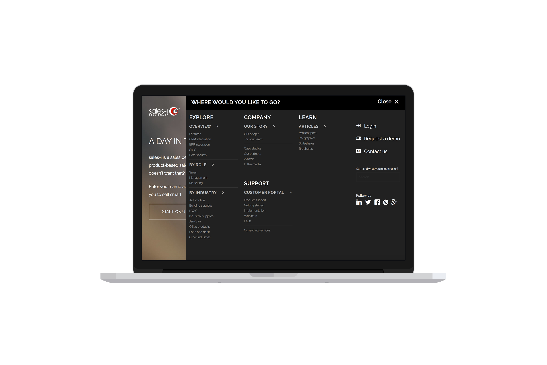 New website menu