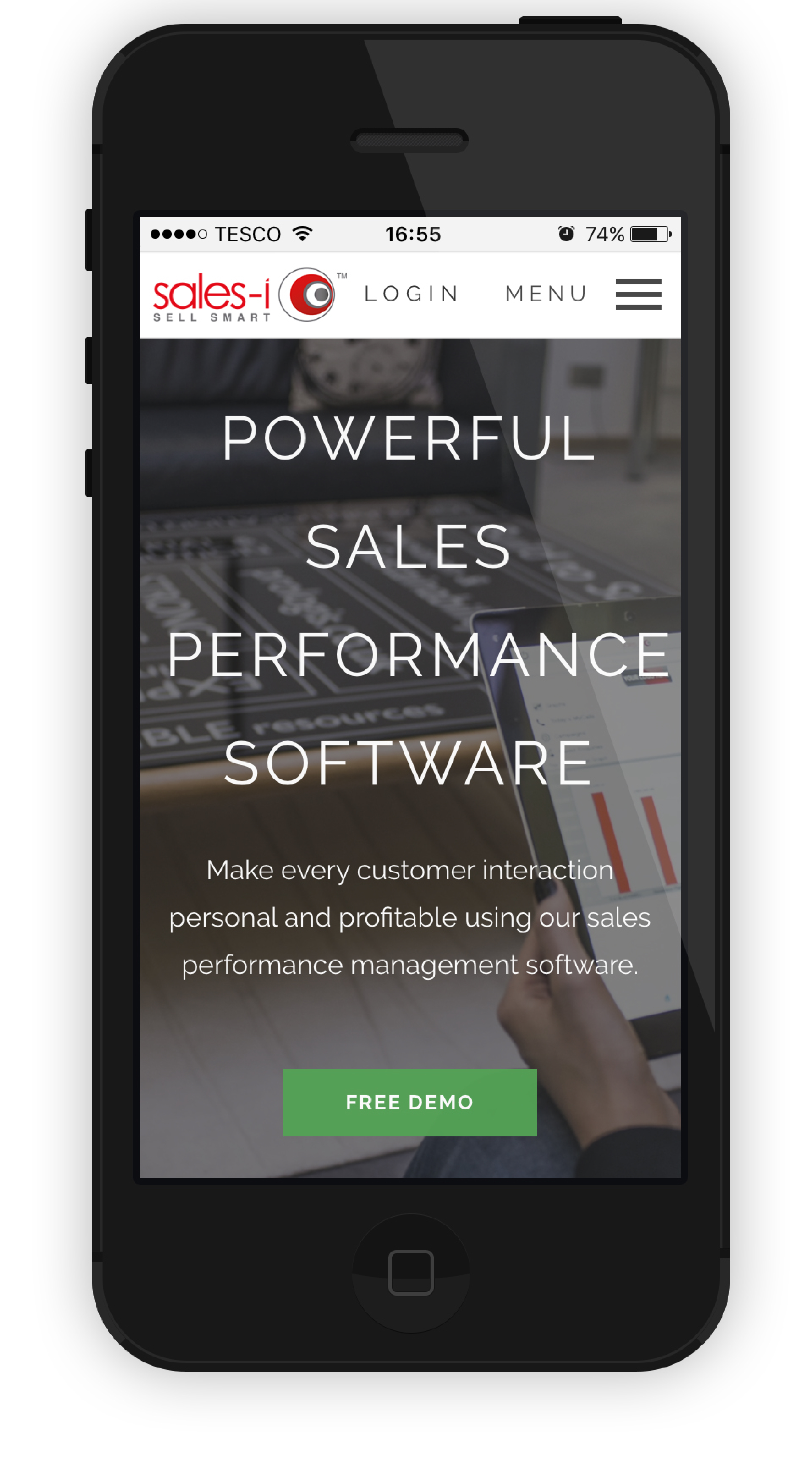 sales-i on a smartphone