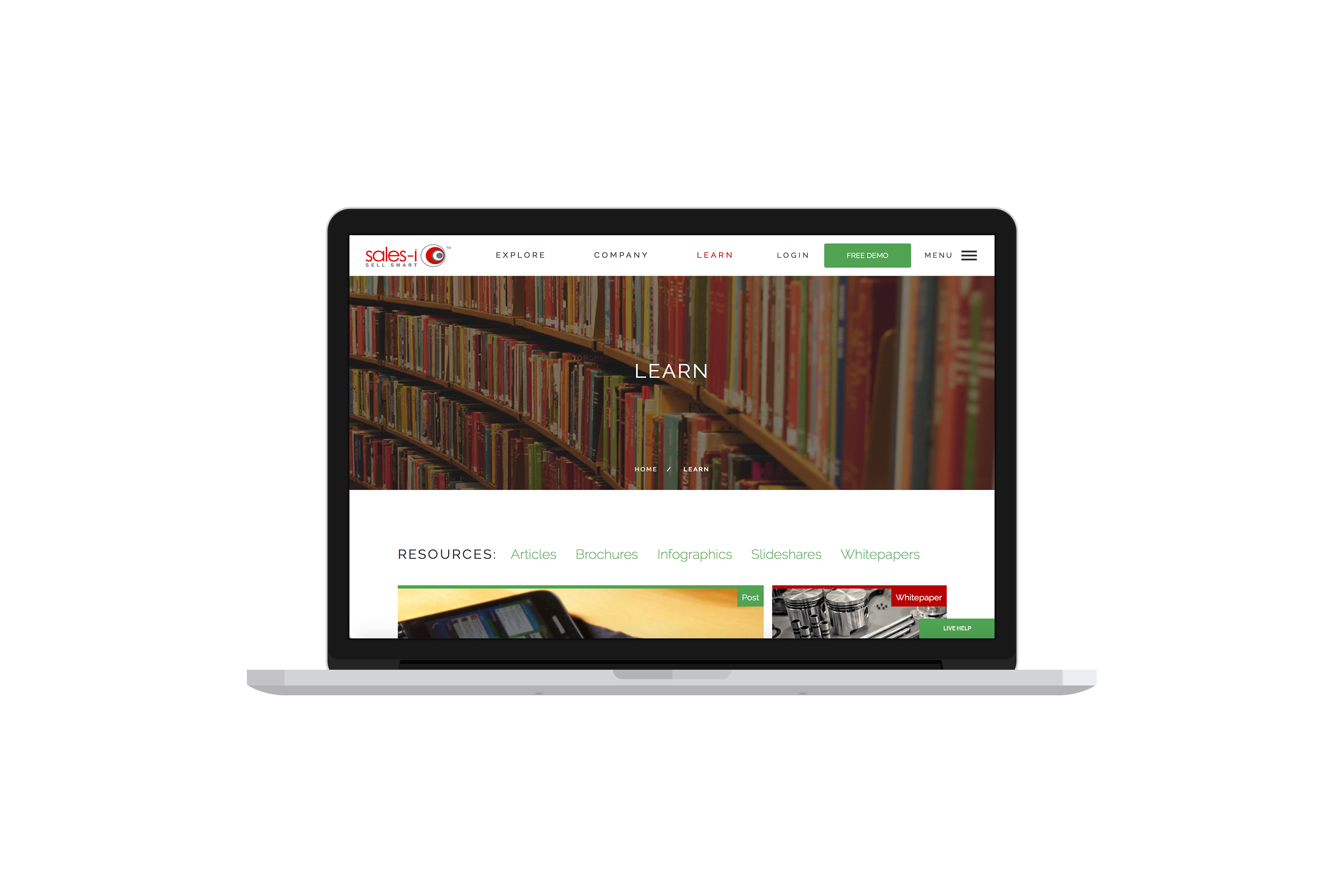 New website learn section