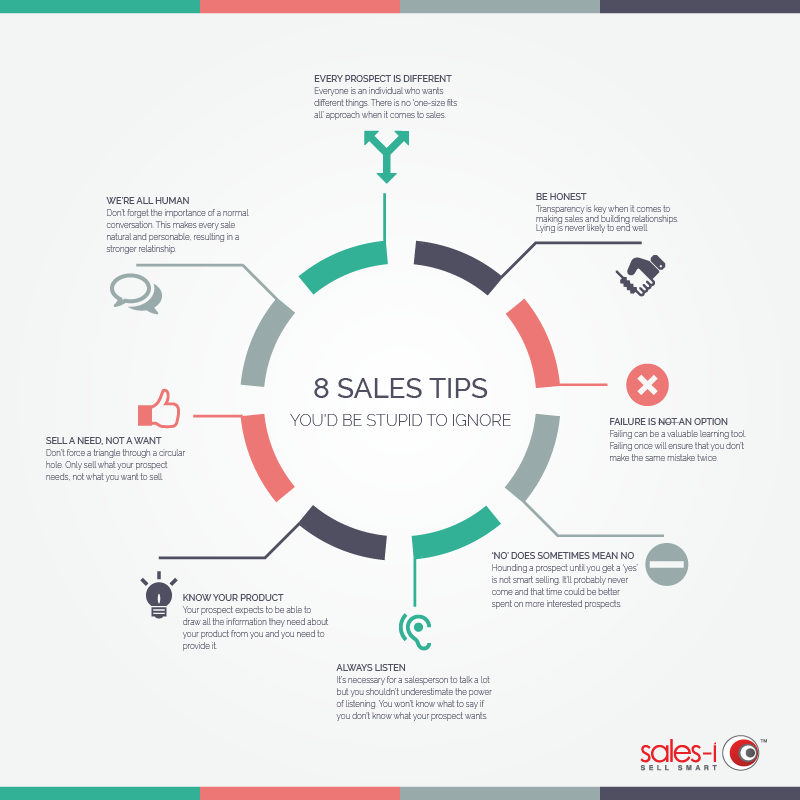 8 sales tips infographic