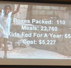 Feed My Starving Children meal total