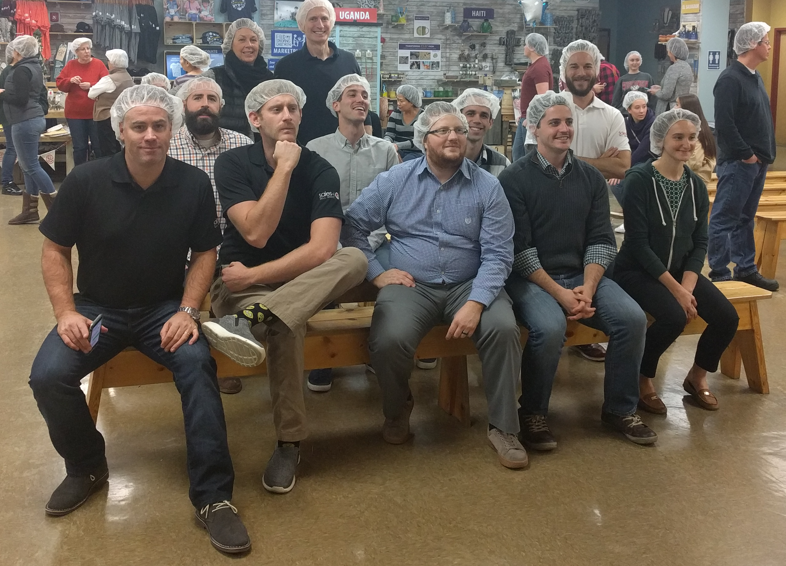 sales-i volunteering with Feed My Starving Children