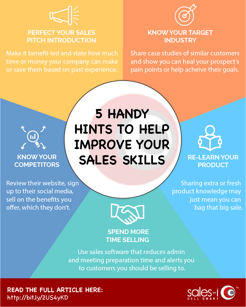 5 sales tips infographic