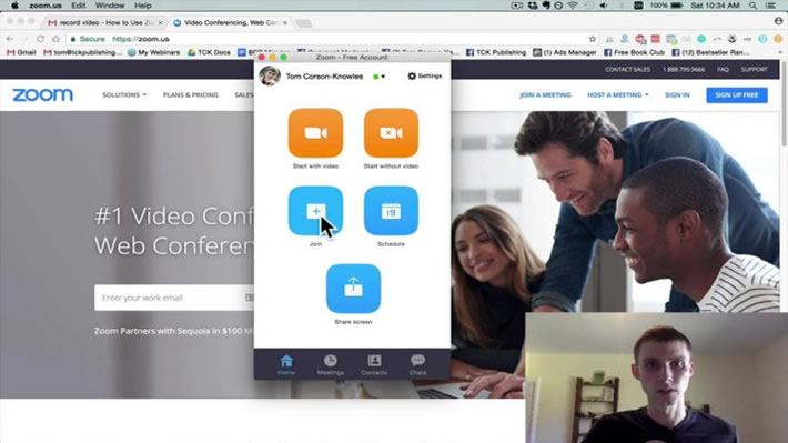 zoom video conferencing screenshot