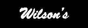 Wilson's white logo
