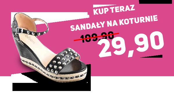 Zobacz Sandały na koturnie za 29,90zł na pantofelek24.pl