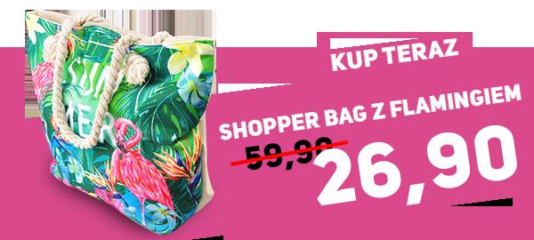 Zobacz Shopper bag z flamingiem za 26,90zł na pantofelek24.pl