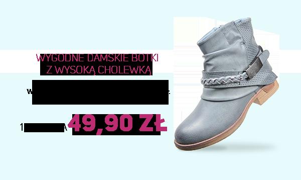 Wygodne damskie botki z wysoką cholewką za 49,90zł na pantofelek24.pl