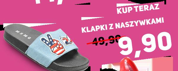 Zobacz Klapki z naszywkami 9,90zł na pantofelek24.pl