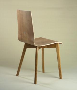 LUKA W krzesło laminowane, dębowa rama