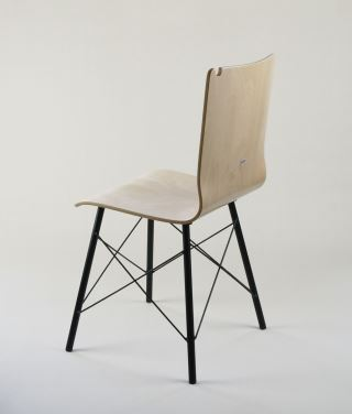 ROMA X krzesło ze sklejki, metalowa rama