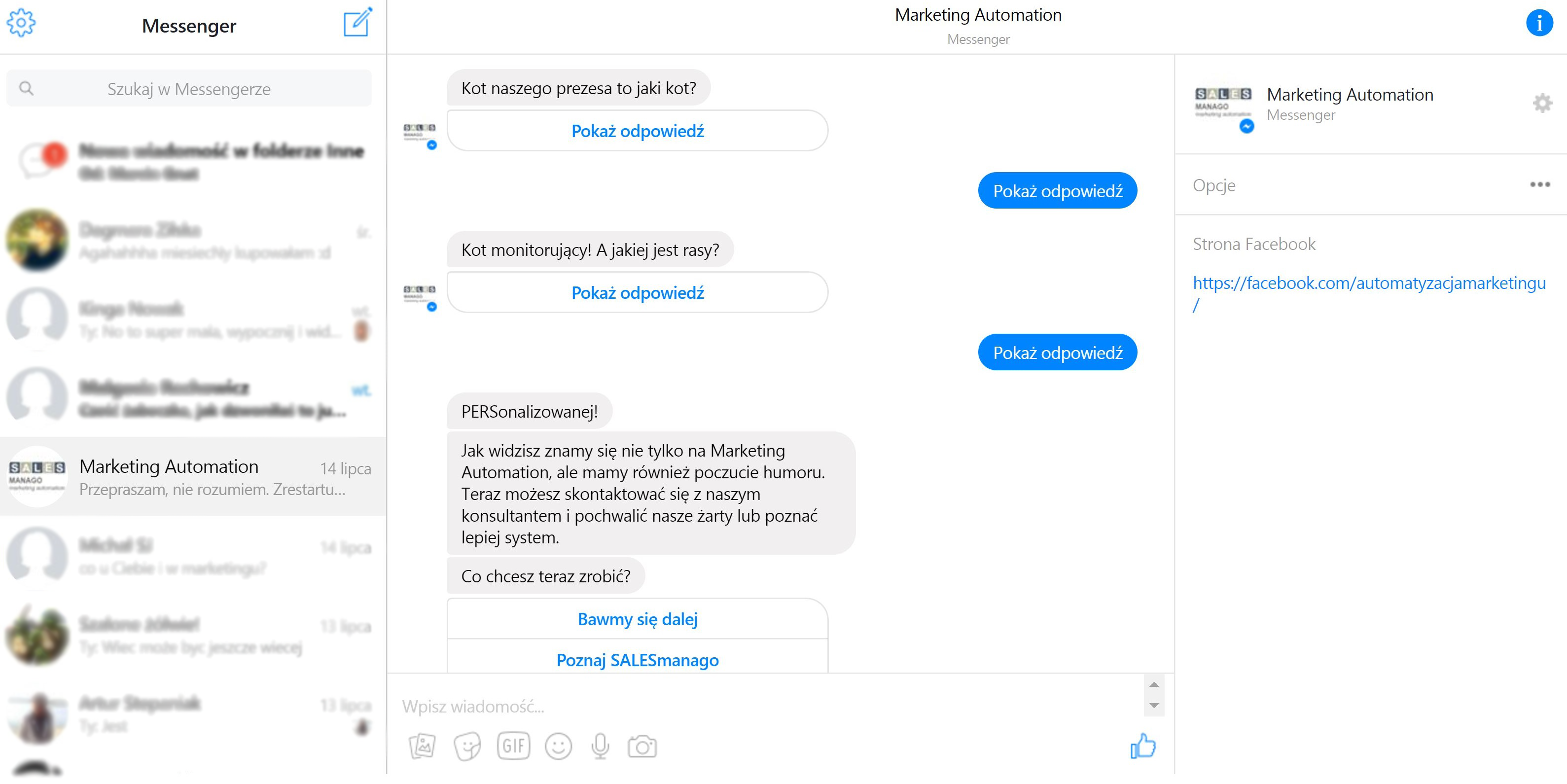 Automatic Sales Chat