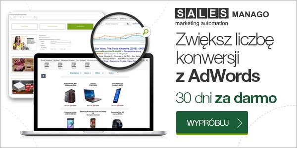SALESmanago - zwiększ liczbę konwersji z Adwords