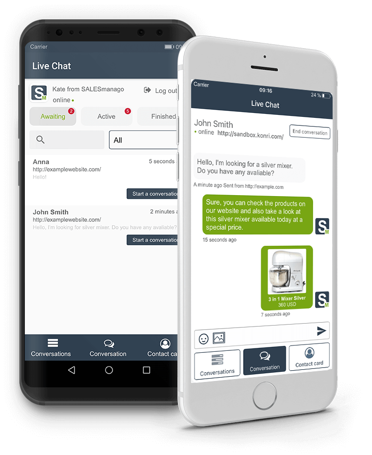 SALESmanago Live Chat App