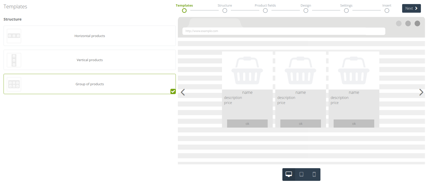 Product Recommendation Frame